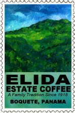 The painting for the Elida Estate logo represents the Baru volcano skirts were the farm resides